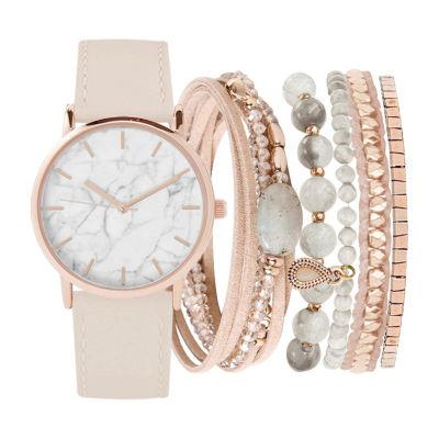 Womens Pink Bracelet Watch-St2493rg689-0aa