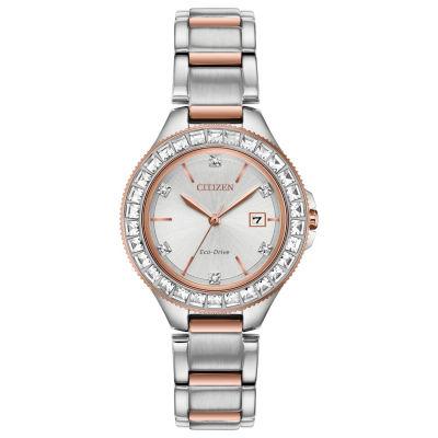 Citizen Womens Two Tone Bracelet Watch-Fe1196-57a