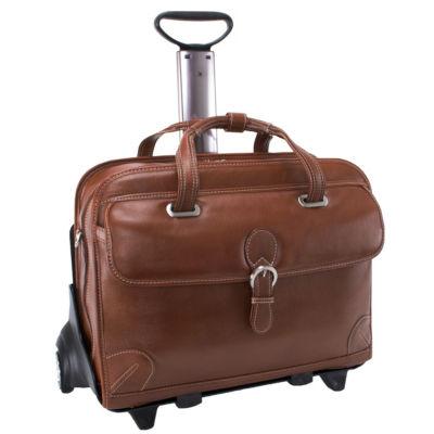 "McKleinUSA Carugetto 15.4"" Leather Detachable -Wheeled Laptop Briefcase"