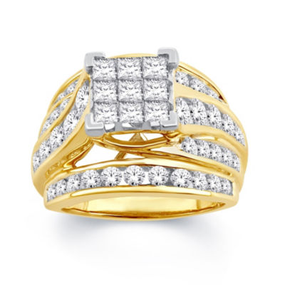 Womens 3 CT. T.W. White Diamond 10K Gold Engagement Ring