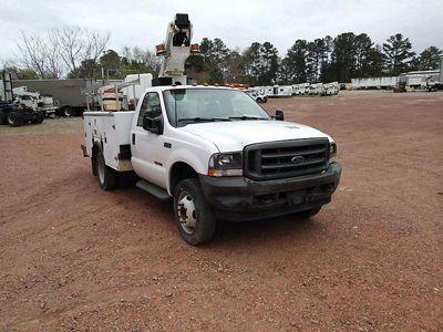 MTI A28D Telescopic Non-Insulated Bucket Truck On 2002 Ford F450