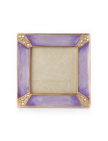 leland pave corner 2 square frame lavender