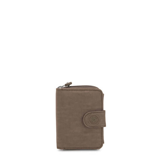 New Money Small Credit Card Wallet,Soft Earthy Beige Tonal Zipper,large