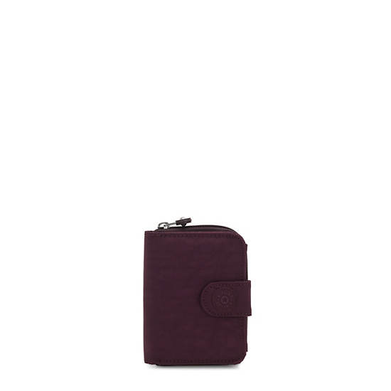 New Money Small Credit Card Wallet,Dark Plum,large
