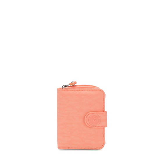 New Money Small Credit Card Wallet,Peachy Coral,large