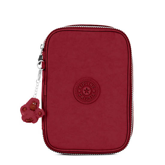 100 Pens Case,Brick Red,large