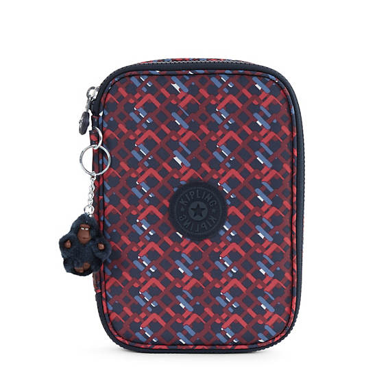 100 Pens Printed Case,Groovy Lines,large