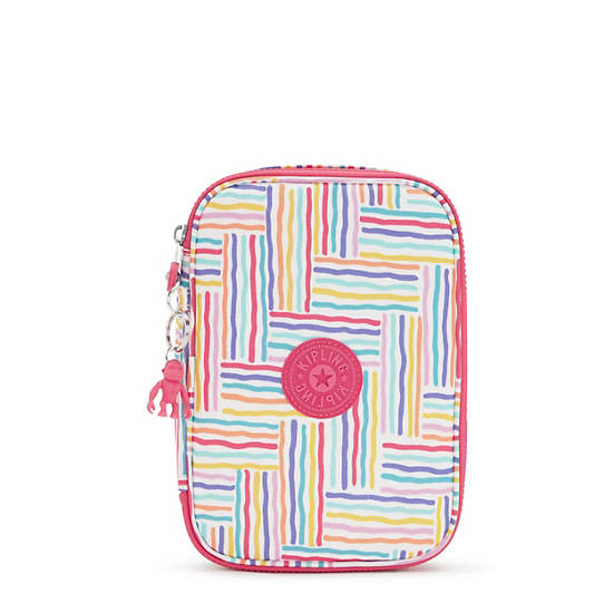100 Pens Printed Case, Candy Lines, large