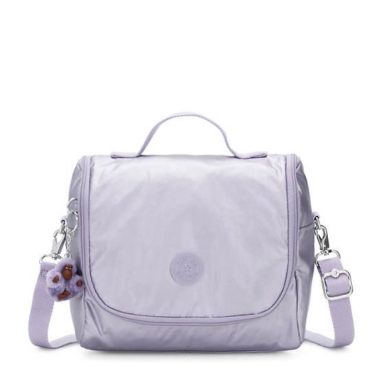 Kichirou Metallic Lunch Bag,Frosted Lilac Metallic,large