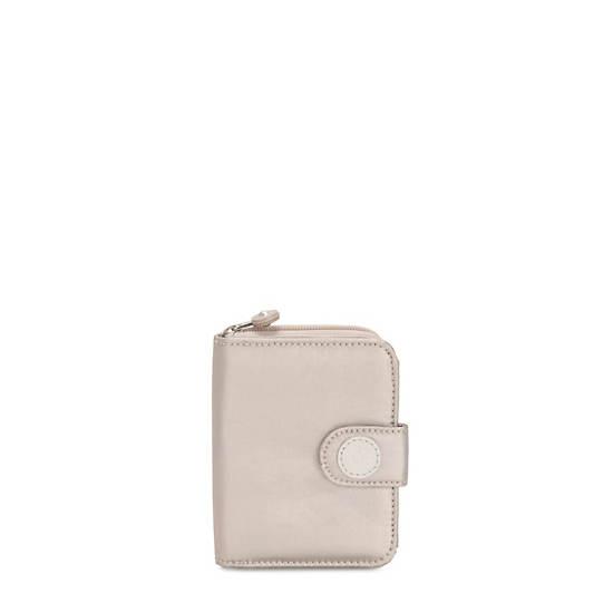 New Money Small Metallic Credit Card Wallet,Metallic Glow,large