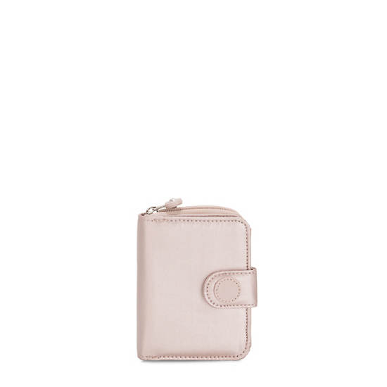New Money Small Credit Card Wallet,Metallic Rose,large