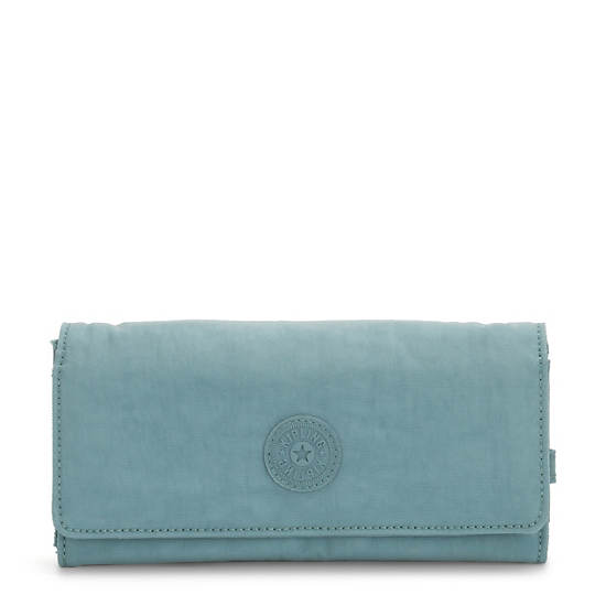 New Teddi Snap Wallet,Aqua Frost,large