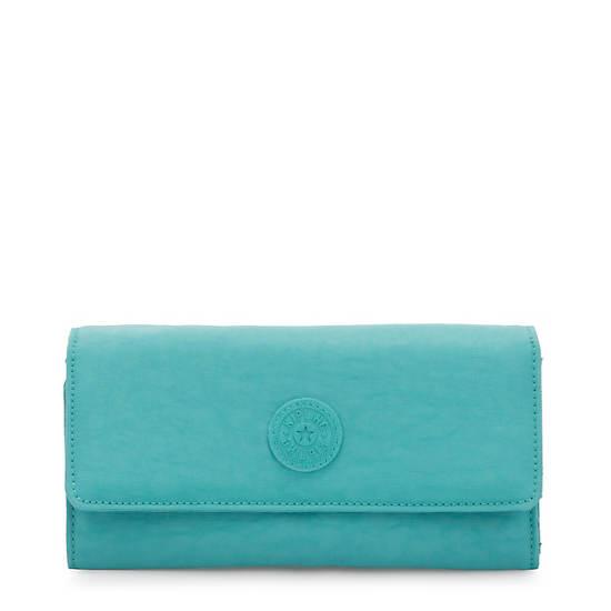 New Teddi Snap Wallet,Seaglass Blue,large