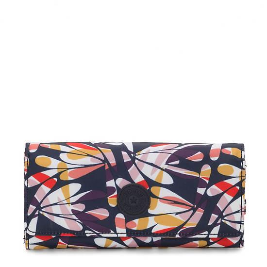 New Teddi Printed Snap Wallet,Retro Floral,large