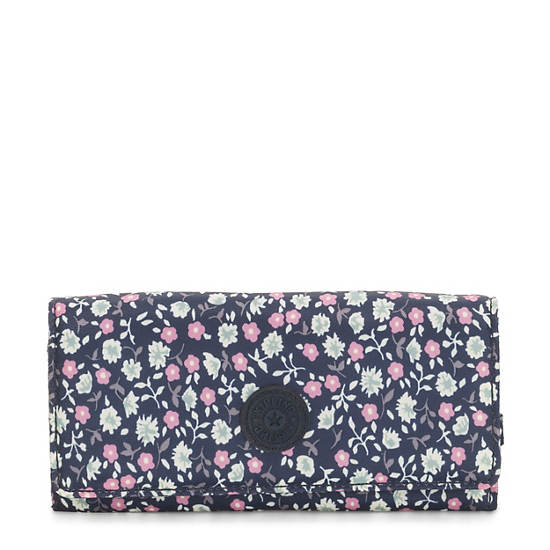 New Teddi Printed Snap Wallet,Floral Rush,large