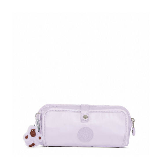 Wolfe Metallic Pencil Pouch,Frosted Lilac Metallic,large
