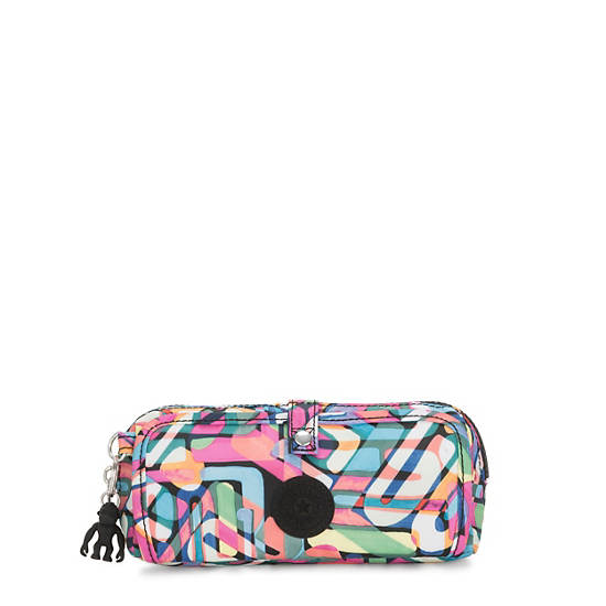 Wolfe Printed Pencil Pouch,Wild Melody,large