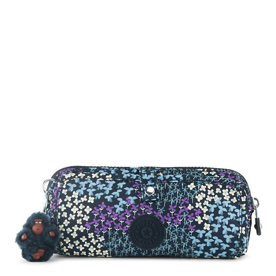 Wolfe Printed Pencil Pouch,Dotted Bouquet,large