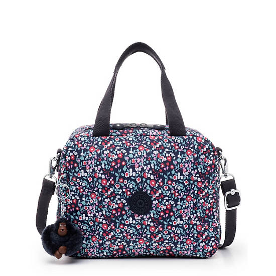 Miyo Printed Lunch Bag,Glistening Poppy  Blue,large