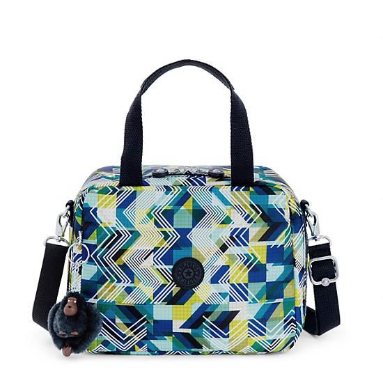 Miyo Printed Lunch Bag,Sonic Lines,large