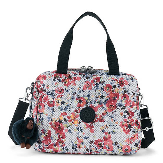 Miyo Printed Lunch Bag,Busy Blossoms,large