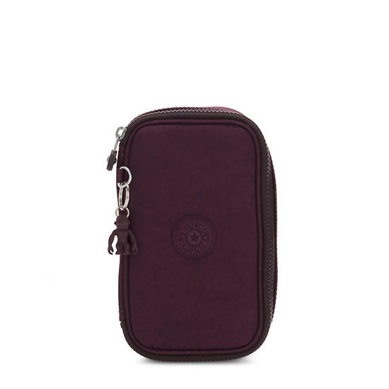 50 Pens Case,Dark Plum,large