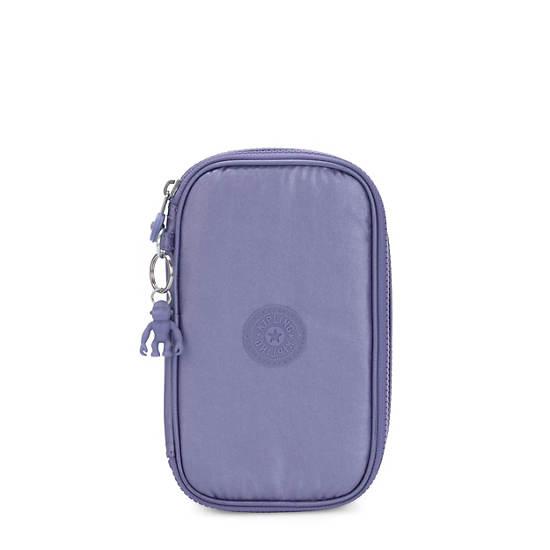 50 Pens Metallic Case,Metallic Purple,large