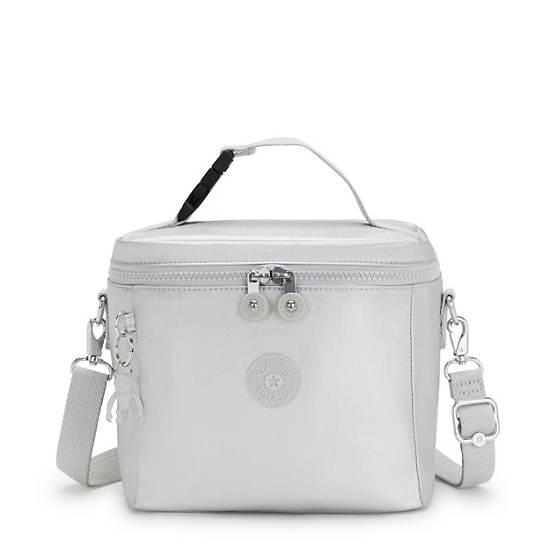 Graham Metallic Lunch Bag, Bright Silver, large