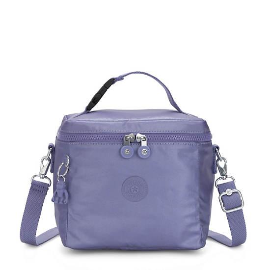 Graham Metallic Lunch Bag,Metallic Purple,large