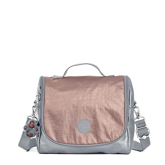 Kichirou Metallic Lunchbag,Rose Gold Combo,large