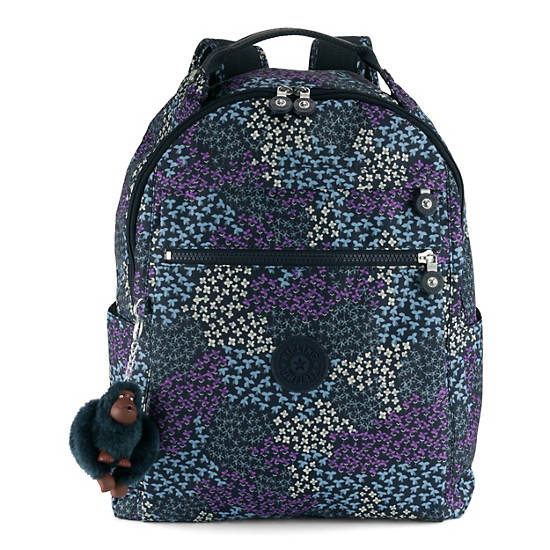 Micah Medium Printed Laptop Backpack,Dotted Bouquet,large