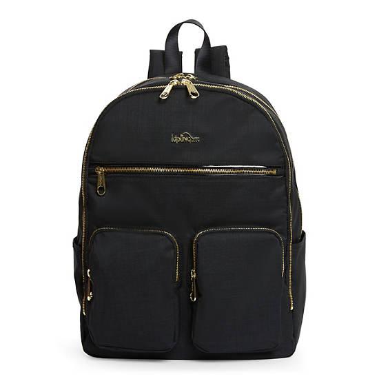 "Tina Large 15"" Laptop Backpack,Black Crosshatch,large"