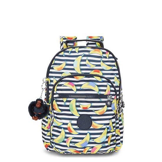 Seoul Small Printed Backpack,Blocked Banana,large