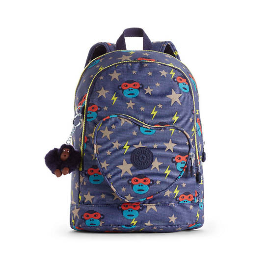 Heart Printed Kids Backpack,Toddler Hero,large