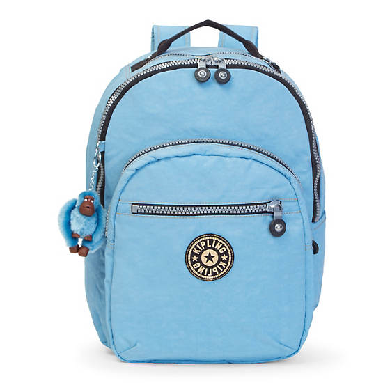 Seoul Large Vintage Laptop Backpack,Blue Grey,large