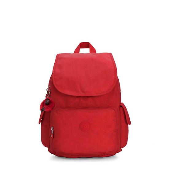 City Pack Medium Backpack, Cherry Tonal Zipper, large