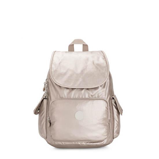City Pack Medium Metallic Backpack,Metallic Glow,large