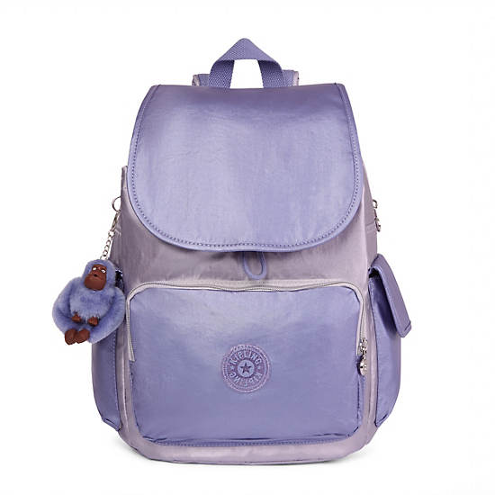 City Pack Metallic Backpack,Purple Combo,large