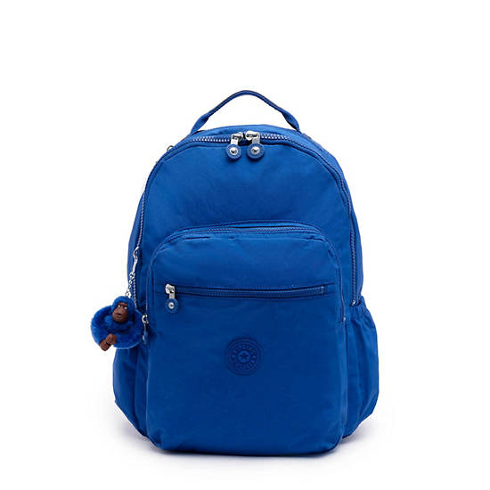 "Seoul Go Large 15"" Laptop Backpack,Blue Topics Tonal Zipper,large"