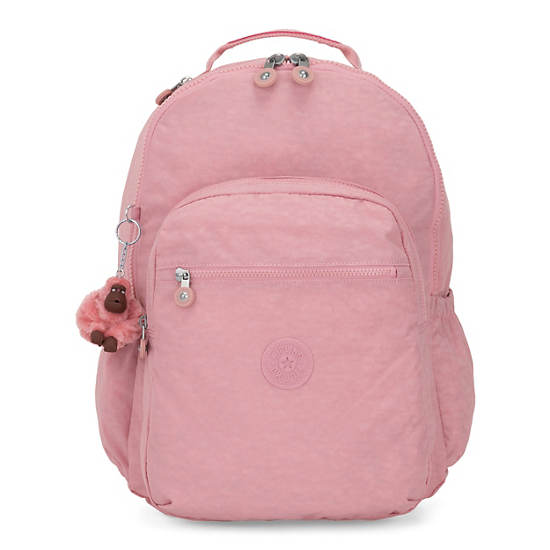 "Seoul Go Large 15"" Laptop Backpack,Strawberry Pink Tonal Zipper,large"