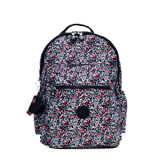 "Seoul Go Large Printed Laptop 15"" Backpack,Glistening Poppy  Blue,large"