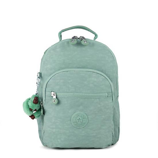 Seoul Go Small Backpack,Fern Green Tonal Zipper,large