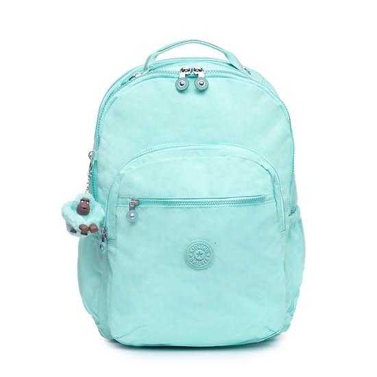 "Seoul Go Extra Large 17"" Laptop Backpack,Fresh Teal Tonal Zipper,large"
