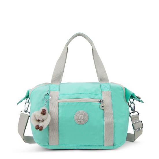 Art Small Handbag,Fresh Teal,large
