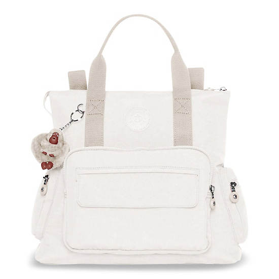 Alvy 2 In 1 Convertible Tote Bag Backpack Alabaster Large