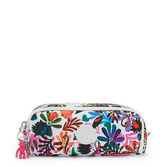 Gitroy Printed Pencil Case, Berry Floral, large