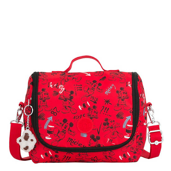 Disney's 90 Years of Mickey Mouse Kichirou Lunch Bag,Sketch Red,large