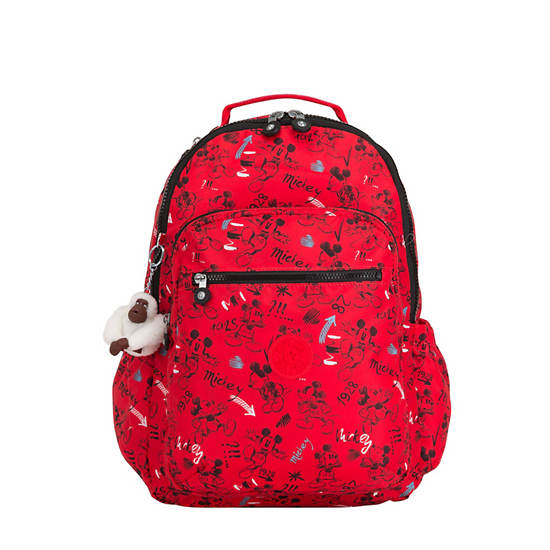Disney's 90 Years of Mickey Mouse Seoul GO Large Laptop Backpack ,Sketch Red,large