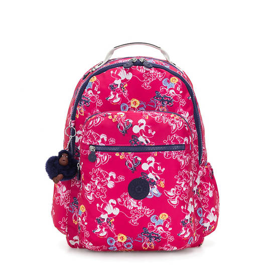 """Disney's Minnie Mouse and Mickey Mouse Seoul Go 15"""" Large Laptop Backpack,DOODLE PINK,large"""