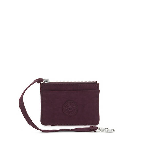 Cindy Card Case,Dark Plum,large